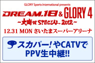 『『GSI presents DREAM.18 & GLORY4~大晦日 SPECIAL 2012』放送情報
